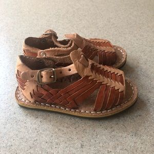 Other - Boho Leather Cork Strappy Sandals Toddler 5